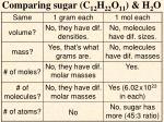 comparing sugar c 12 h 22 o 11 h 2 o
