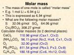 molar mass1