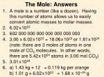 the mole answers