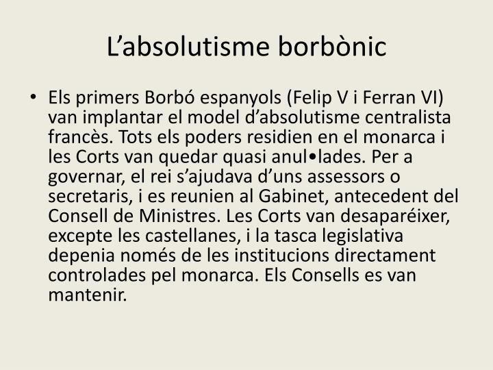 L'absolutisme