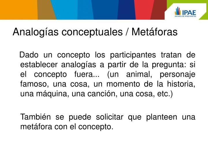 Analogías conceptuales / Metáforas