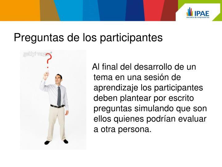 Preguntas de los participantes