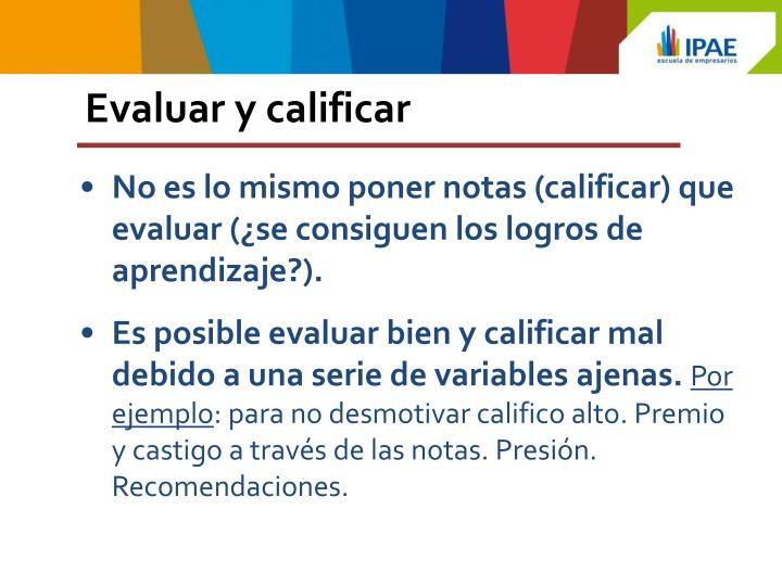 Evaluar y calificar
