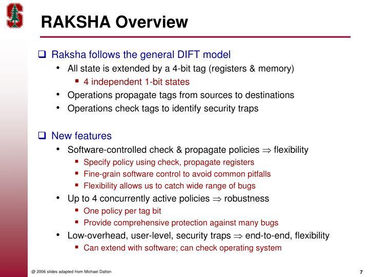 RAKSHA Overview