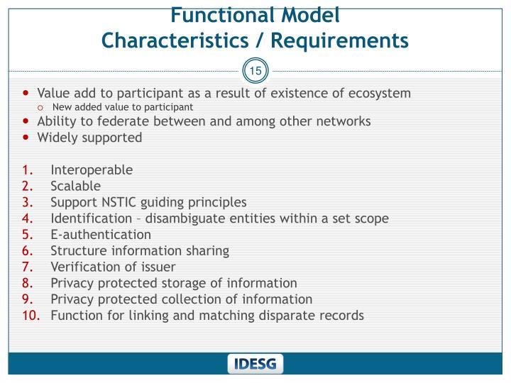 Functional Model