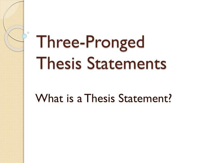 defending a thesis statement