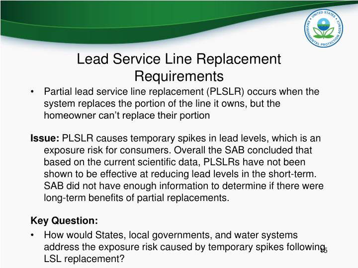 Lead Service Line Replacement Requirements