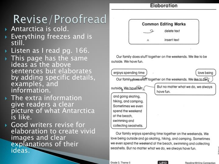 Revise/Proofread