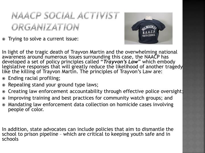 NAACP Social Activist Organization