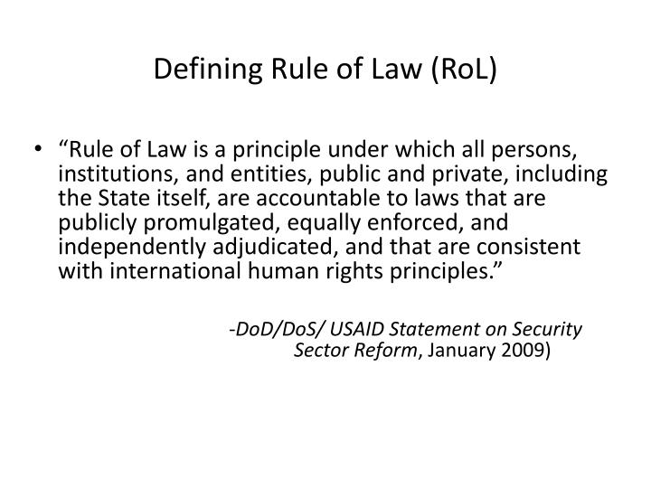 Defining Rule of Law (
