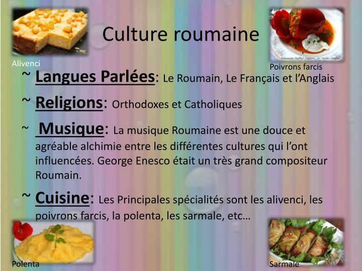 Culture roumaine