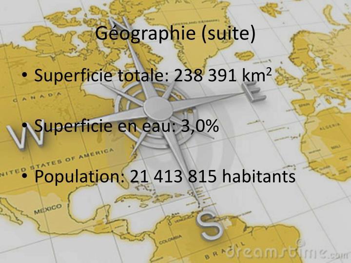 Géographie (suite)