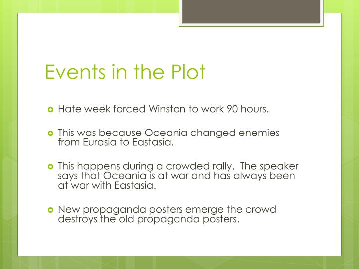 Events in the Plot