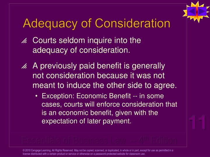 Adequacy of Consideration