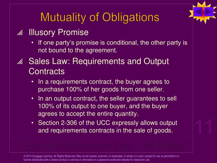 Mutuality of Obligations