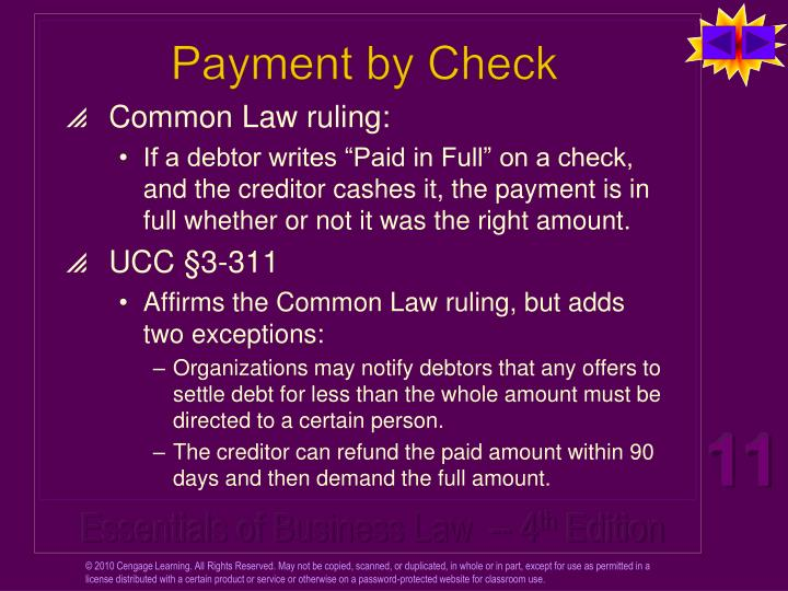 Payment by Check