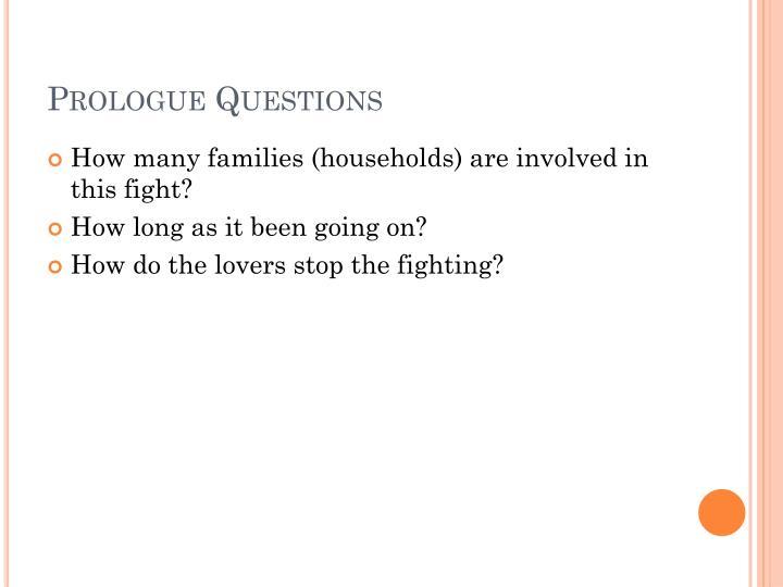 Prologue Questions