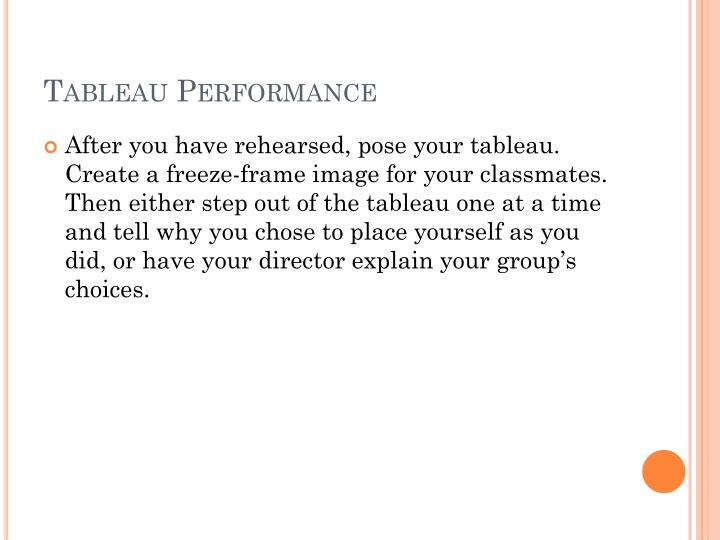 Tableau Performance