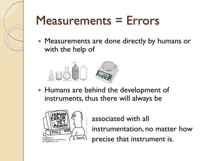 Measurements = Errors