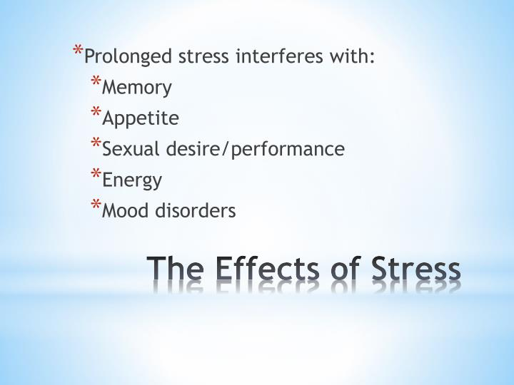 Prolonged stress interferes with: