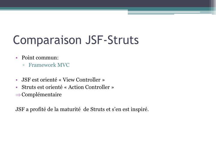 Comparaison JSF-