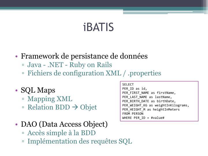 Framework de persistance de données