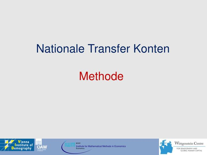 Nationale Transfer Konten