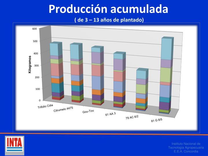 Producción acumulada
