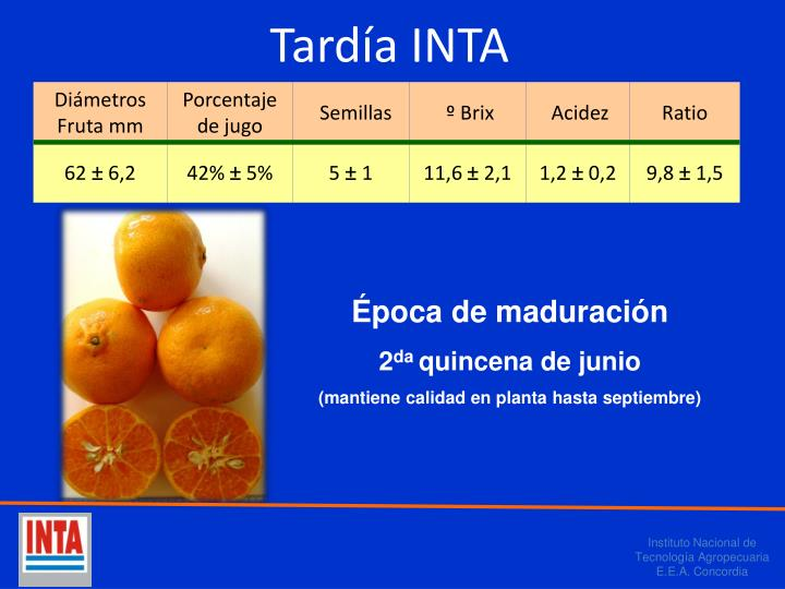 Tardía INTA