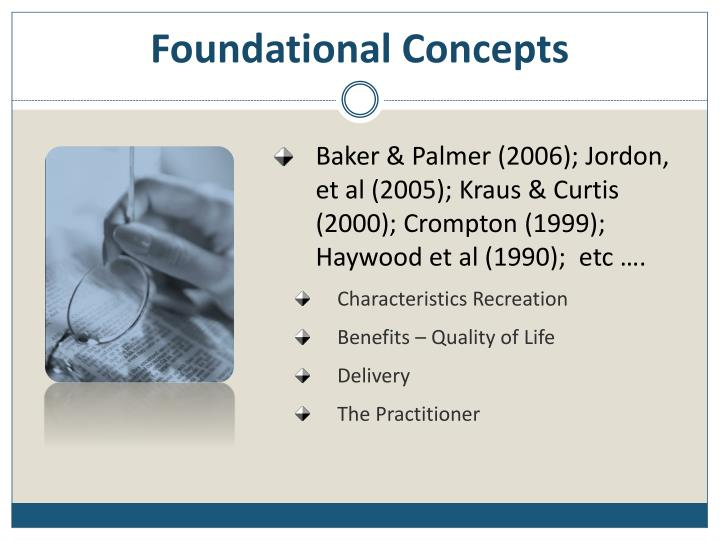 Foundational Concepts