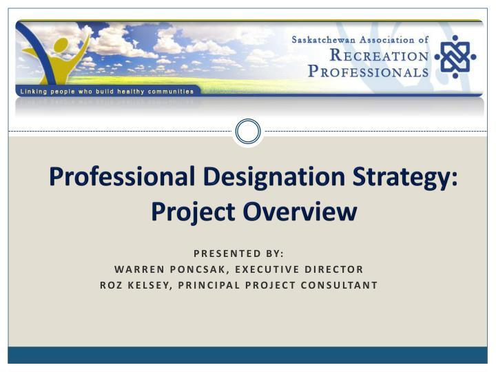 professional designation strategy project overview