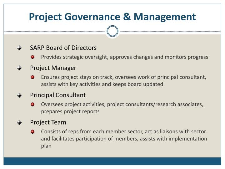 Project Governance & Management