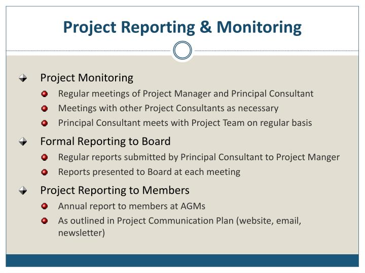 Project Reporting & Monitoring