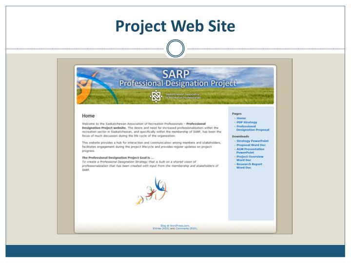 Project Web Site