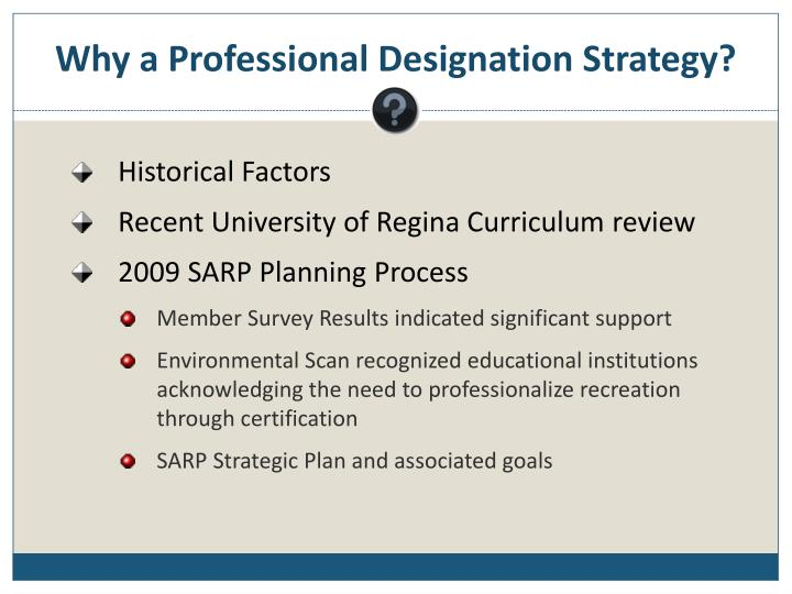 Why a professional designation strategy