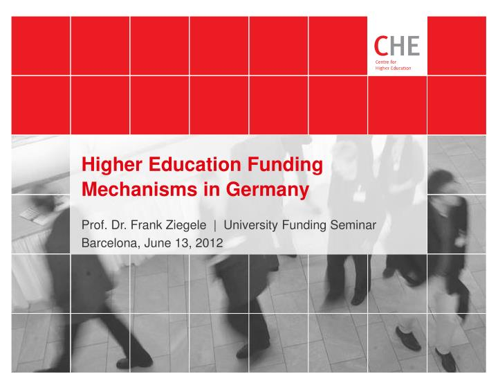 Higher education funding mechanisms in germany