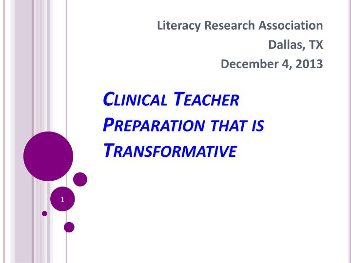 Literacy clinical teacher preparation that is transformative