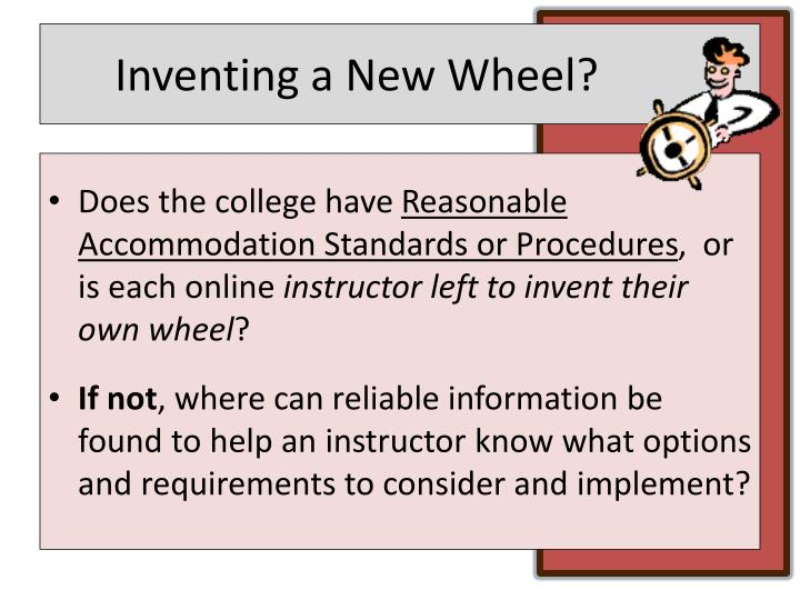 Inventing a New Wheel?