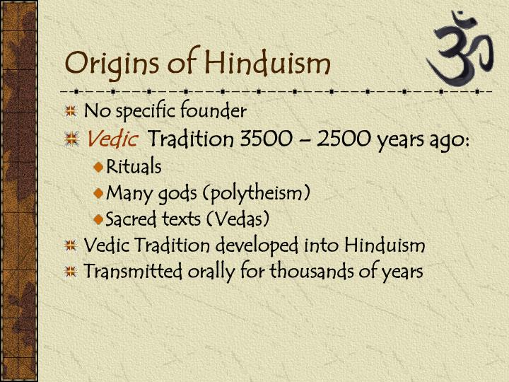 Origins of Hinduism