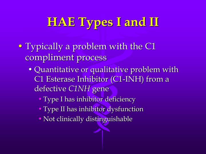 HAE Types I and II
