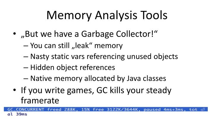 Memory Analysis Tools