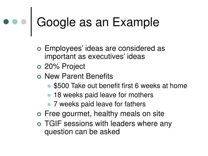 Google as an Example