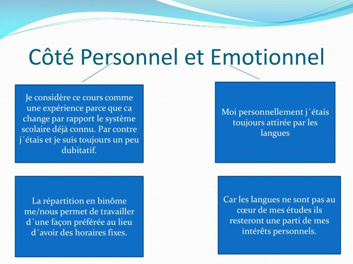 C t personnel et emotionnel