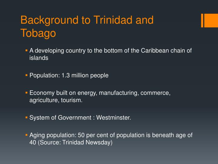 Background to trinidad and t obago