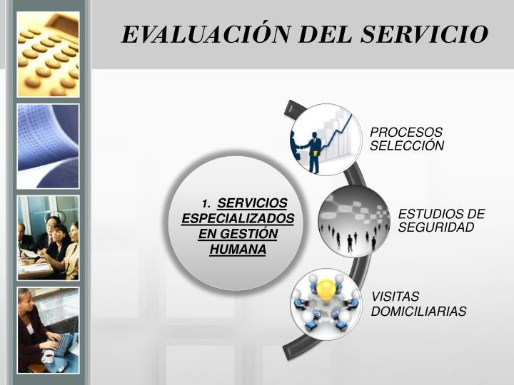 EVALUACIÓN DEL SERVICIO