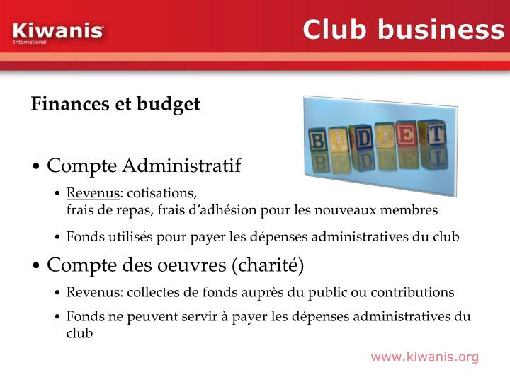 Club business