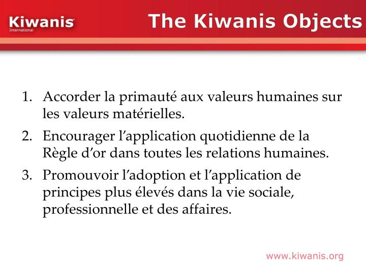 The Kiwanis Objects