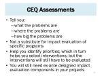 ceq assessments