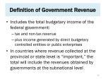 definition of government revenue