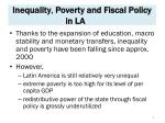 inequality poverty and fiscal policy in la